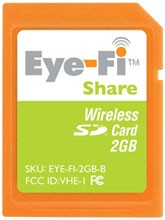 Eye-Fi wireless SD cards get support for Flickr, RSS and Twitter
