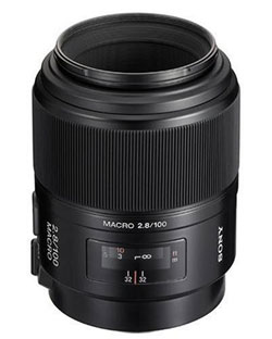 Sony 100mm f/2.8 macro SAL-100M28 lens